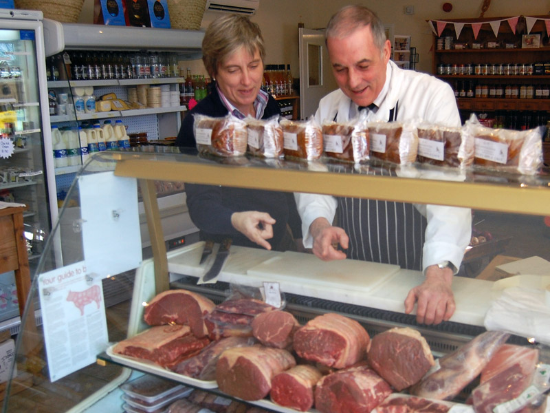 person in a butchers